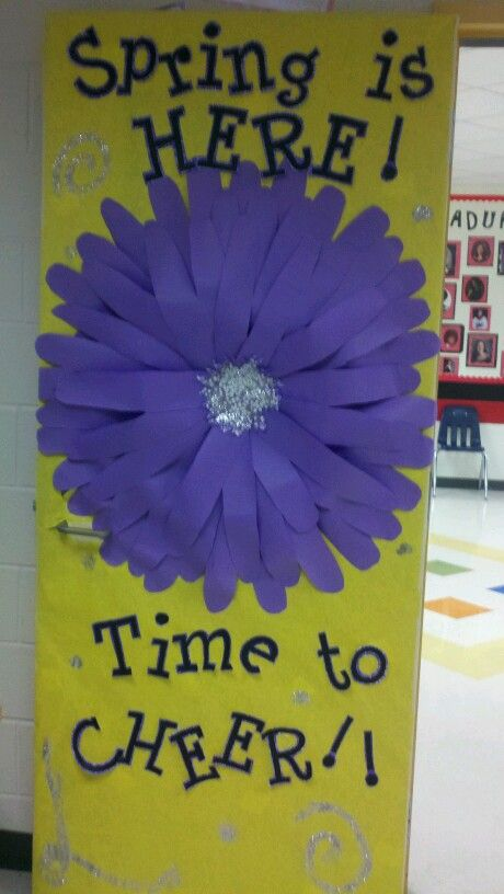 Classroom Door Decor For Spring ~ Spring classroom door bulletin board ideas