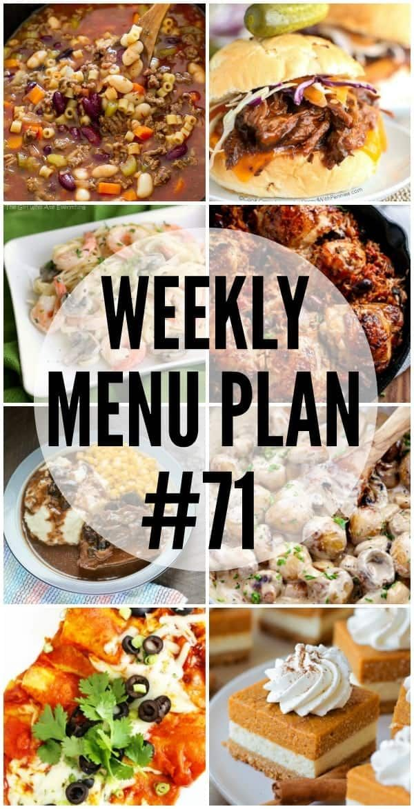 An all new delicious weekly menu plan to help you plan out your week! We have gotten together with some of our favorite food bloggers to bring you this custom weekly menu plan. We will all be sharing some of our favorite recipe ideas for you to use as you are planning out your meals...