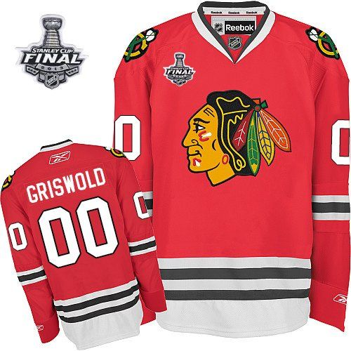 Chicago Blackhawks #00 Clark Griswold 2013 Champions Commemorate Red Jersey