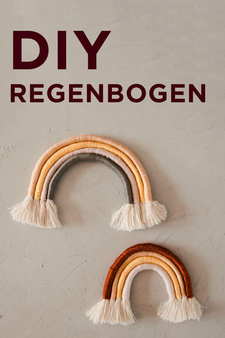 DIY MAKRAMEE REGENBOGEN – REGENBOGEN AUS WOLLE SELBER MACHEN