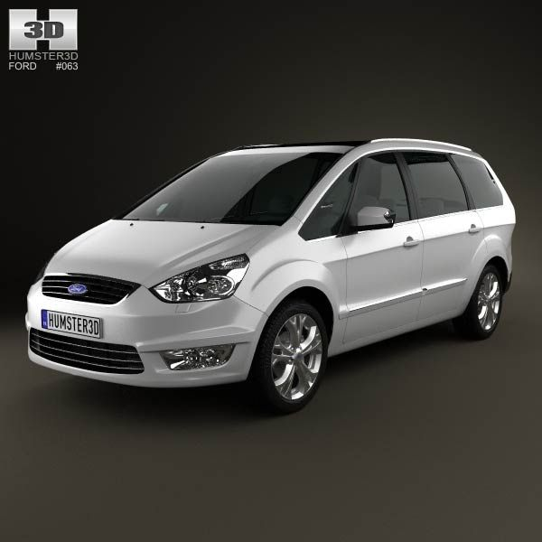 Ford Galaxy (Mk3) 2012  3d model from humster3d.com. Price: $75