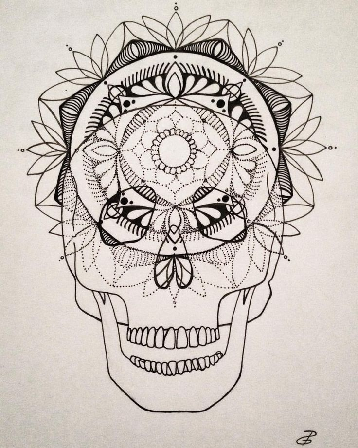 "117 Likes, 4 Comments - Desiree Devloo (@desireedevloo) on Instagram: ""Consciousness #skull #pen #drawing #mandala #tattoo #dotwork"""