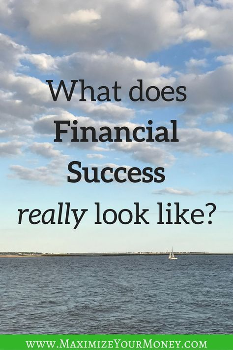 It seems that everyone has financial success as a goal - but what does financial success really look like, and how does someone get there? via @maximizemoney