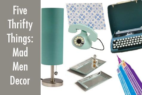 5 Thrifty Things: Mad Men Decor on a Dime | Shoestring Magazine (TM)