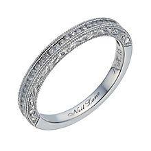 Neil Lane 14ct white gold 0.15ct diamond milgrain band - Product number 1691619