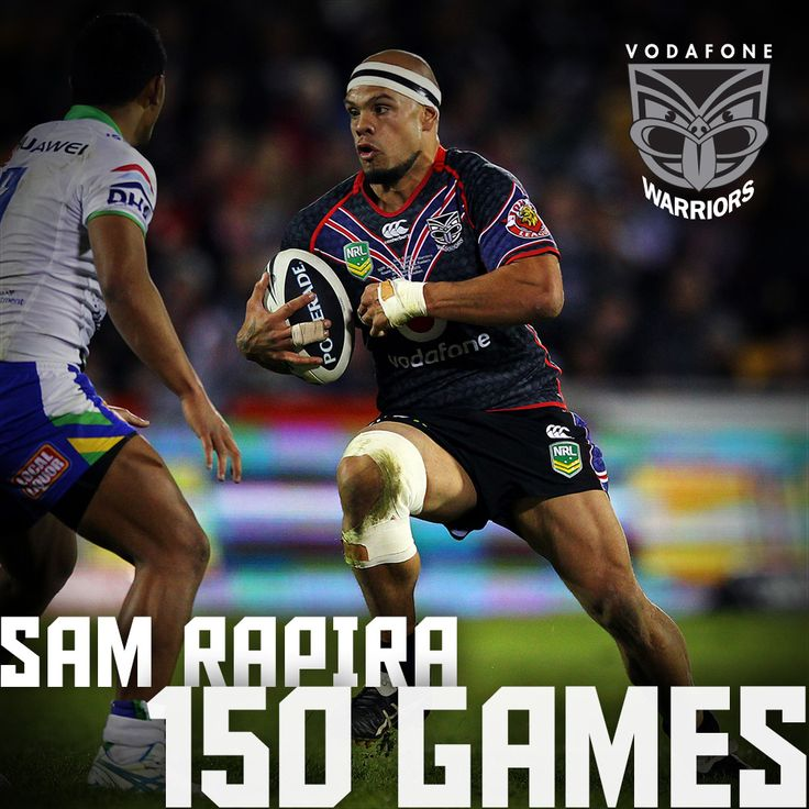 Rd 25, 2013 | Sam Rapira played his 150th game for the Vodafone Warriors