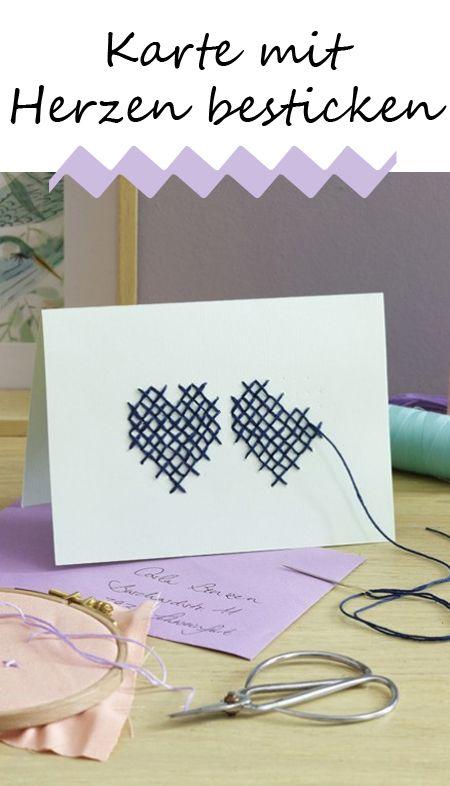 Wollen Sie Ihren Liebsten einen lieben Gruß schicken? Dann machen Sie das doch mit einer selbst bestickten Postkarte! Hier geht es zur Anleitung >>>