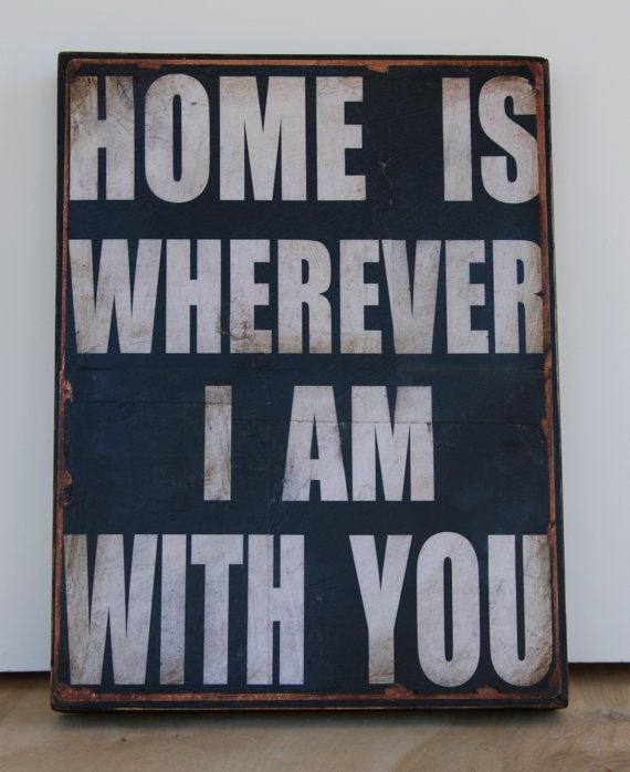 Home is wherever I am with you. Print por emilyrooneydesigns