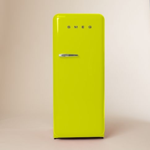 NEED this in my life! SMEG Refrigerator in Lime Green. Now you can buy one from @west elm!