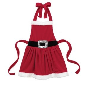 Christmas Mrs. Clause Apron - Ganz Multi Purpose Christmas Santa Apron (Childs Size)