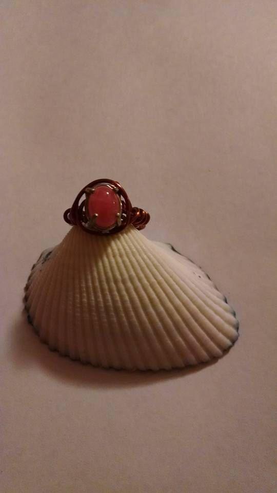 Genuina Rodocrosita rosa alambre envuelto Pinky por missy69 en Etsy