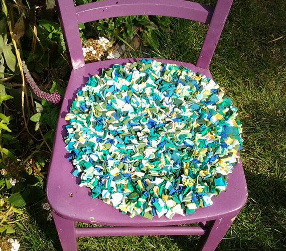 chair cushion multicoloured cushion seat pad by textilechicken
