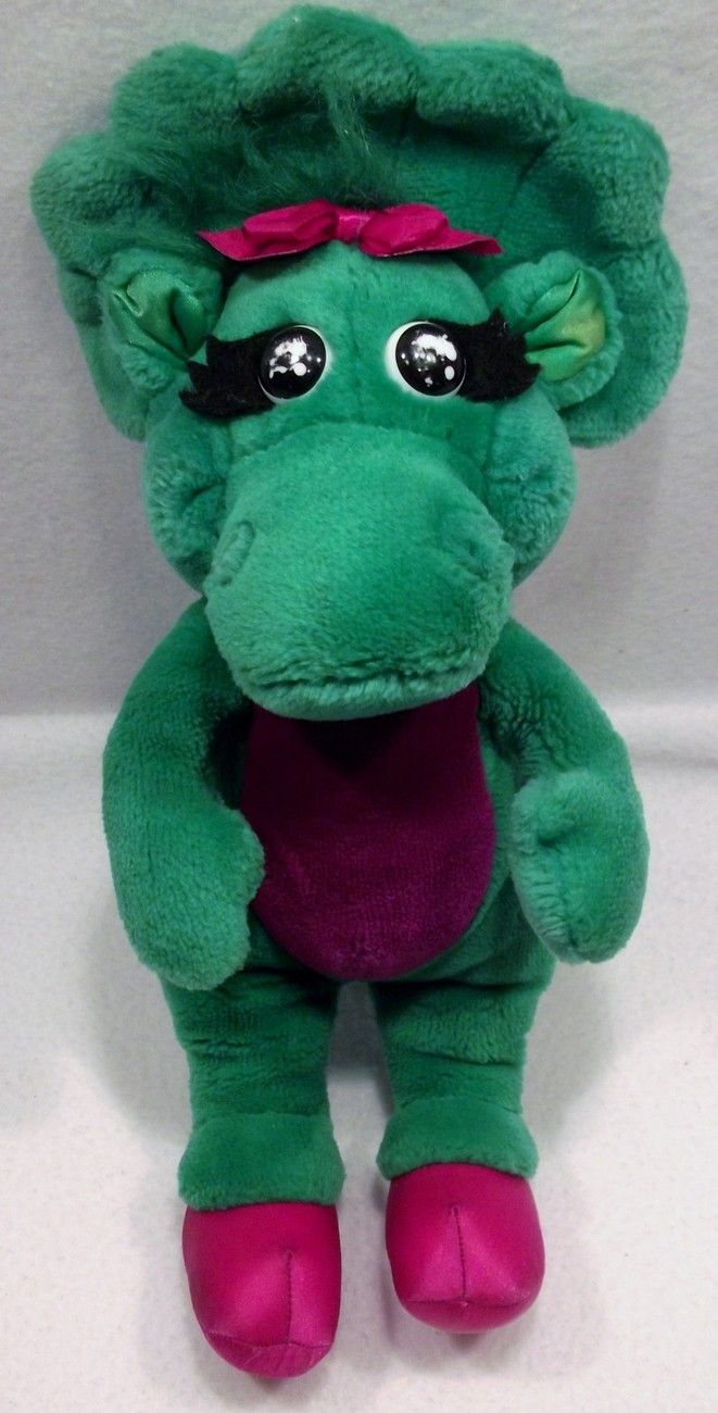 "1992 Barney the Purple dinosaur BABY BOP 16"" plush toy doll by LYONS GROUP E"