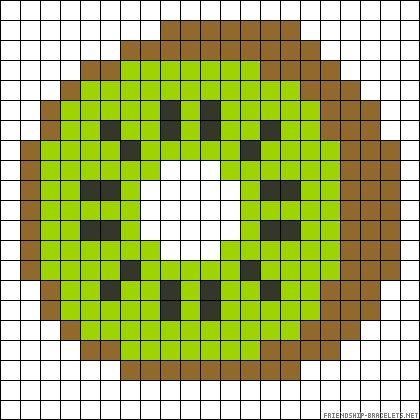 Kiwi perler bead pattern