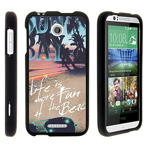 Buy Desire 510 Case, Stylish Personalized Protective Snap On Hard Case Phone Protector for HTC Desire 510 (Sprint, Cricket, Boost Mobile, Virgin Mobile) from MINITURTLE | Includes Clear Screen Protector and Stylus Pen - Life at the Beach NEW for 9.99 USD | Reusell