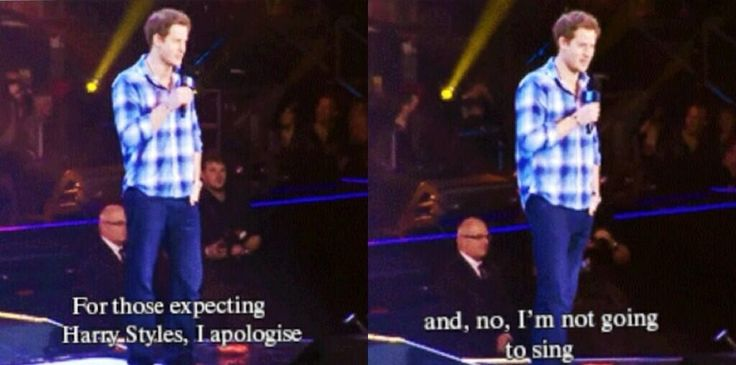 PRINCE HARRY APOLOGIZED FOR NOT BEING HARRY THIS IS SO FUNNY. IT'S OKAY YOU'RE STILL COOL.