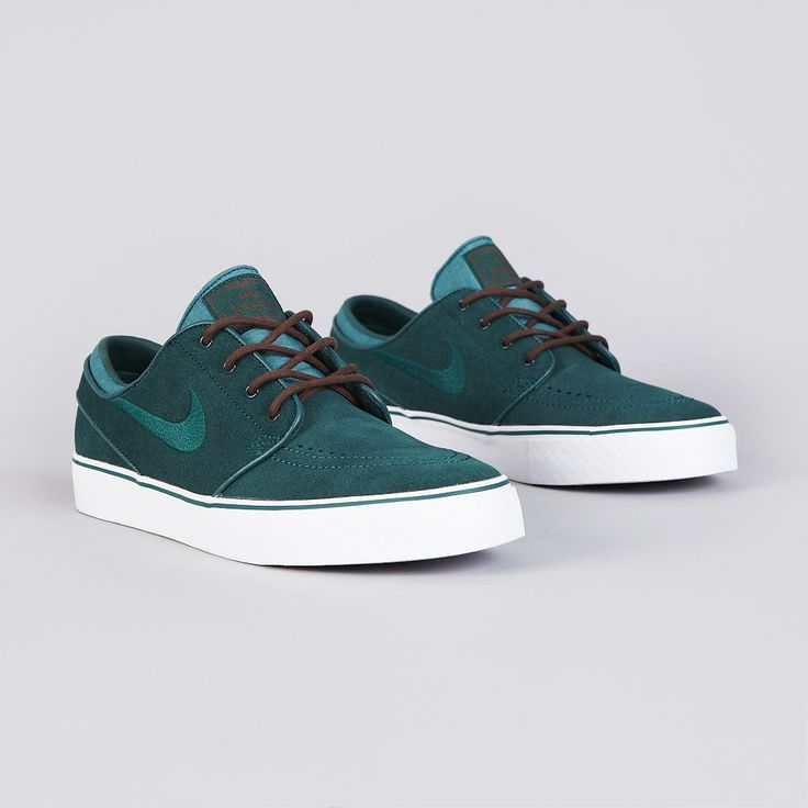 Nike SB Stefan Janoski Dark Atomic Teal. My brother has a pair of these and throws them on all the time to go to school. You can wear them with you khakis, cords or jeans and them bring a casual touch and some color to the outfit -Ali