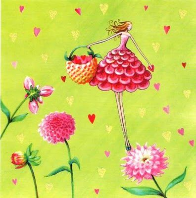 Dahlia girl artist illustration by www.MilaMarquis.com and…