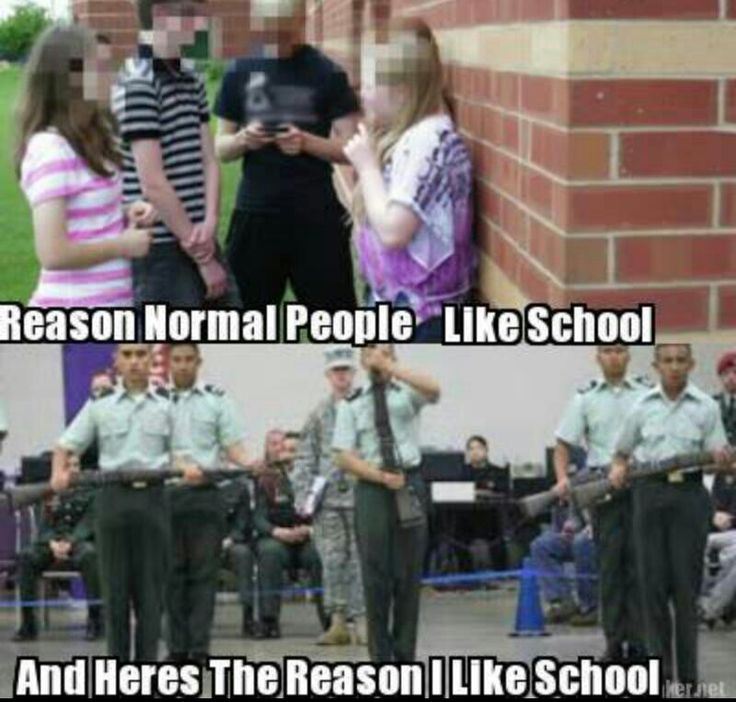 When I was in high school, for real. ROTC is the only thing I miss.