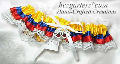 A Colombian flag garter. Hmmm....