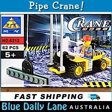 PIPE CRANE with Minifigure 62pc - Construction building block set 6212 - Fits LEGO