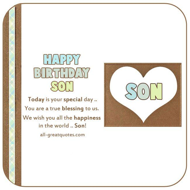 Happy Birthday To My Son Images And Quotes: 25+ Best Ideas About Happy Birthday Son On Pinterest