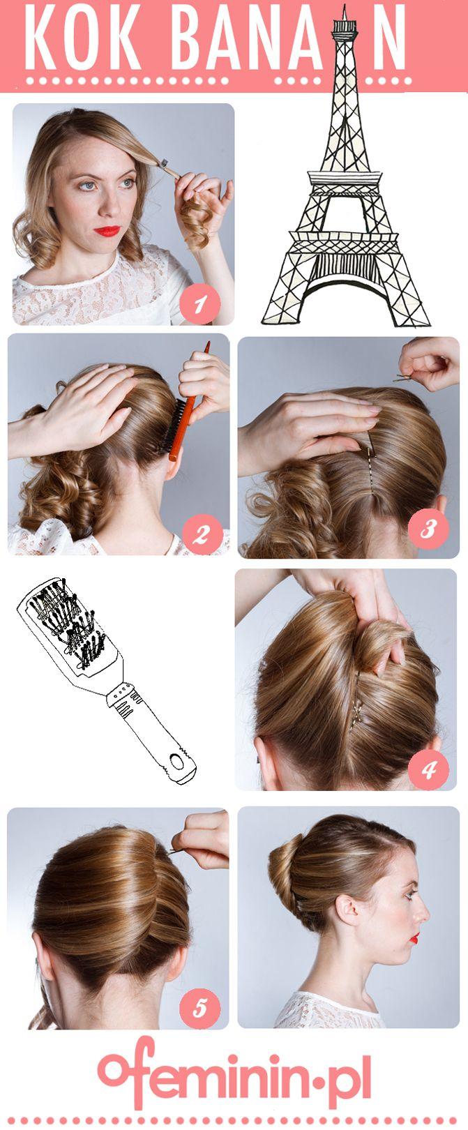 Fryzura w iście francuskim tylu! #hair #ideas #włosy #fryzury
