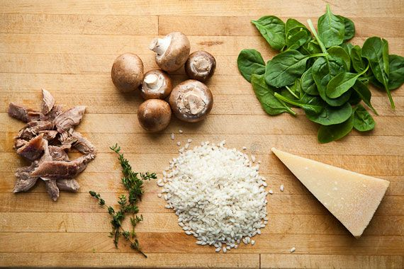 Turkey Risotto With Spinach and Creminis | OMG Food, Dinner ...