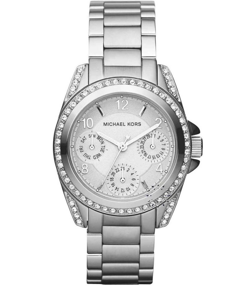 Michael KORS Crystal Chronograph Stainless Steel Bracelet