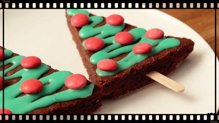 Brownie en forme de sapin de noël