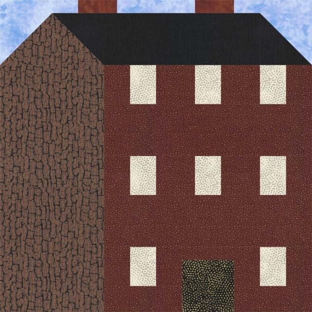 Sew 3-Story House Blocks to Mix with Others and Create a Neighborhood: Make a Three Story House Quilt Block
