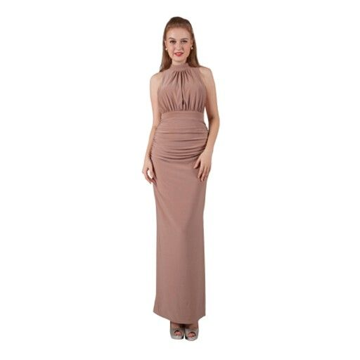 Latte anyone? Love the colour of this dress....so different to the usual formal dress colours.