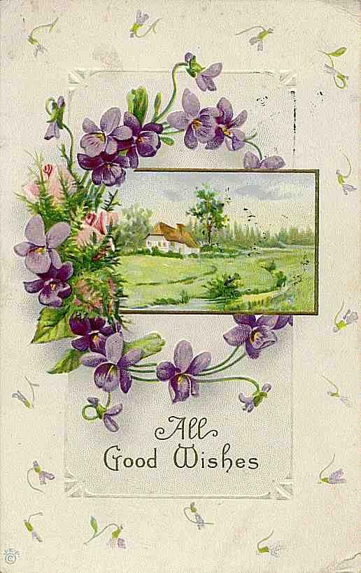 Vintage violet good wishes