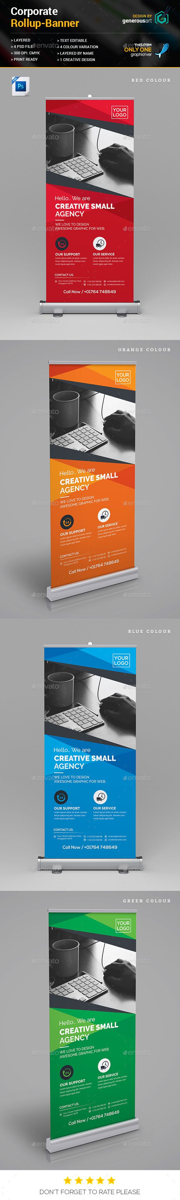 Rollup Banner Template PSD