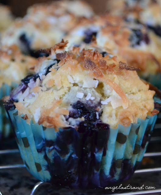 Blueberry Coconut Muffins - these we're yummy! I used coconut oil in ...