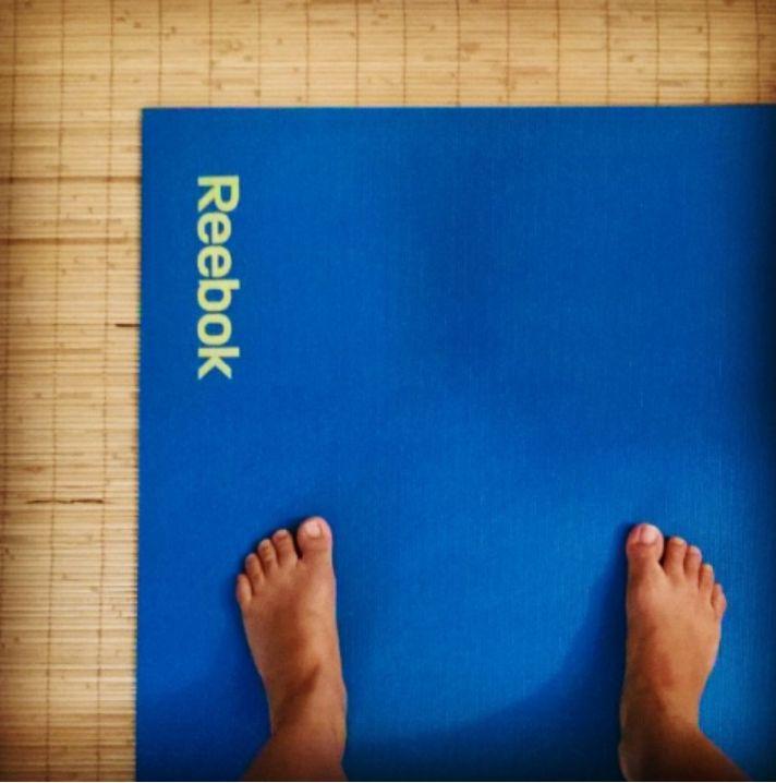 Reebok blue yoga mat.