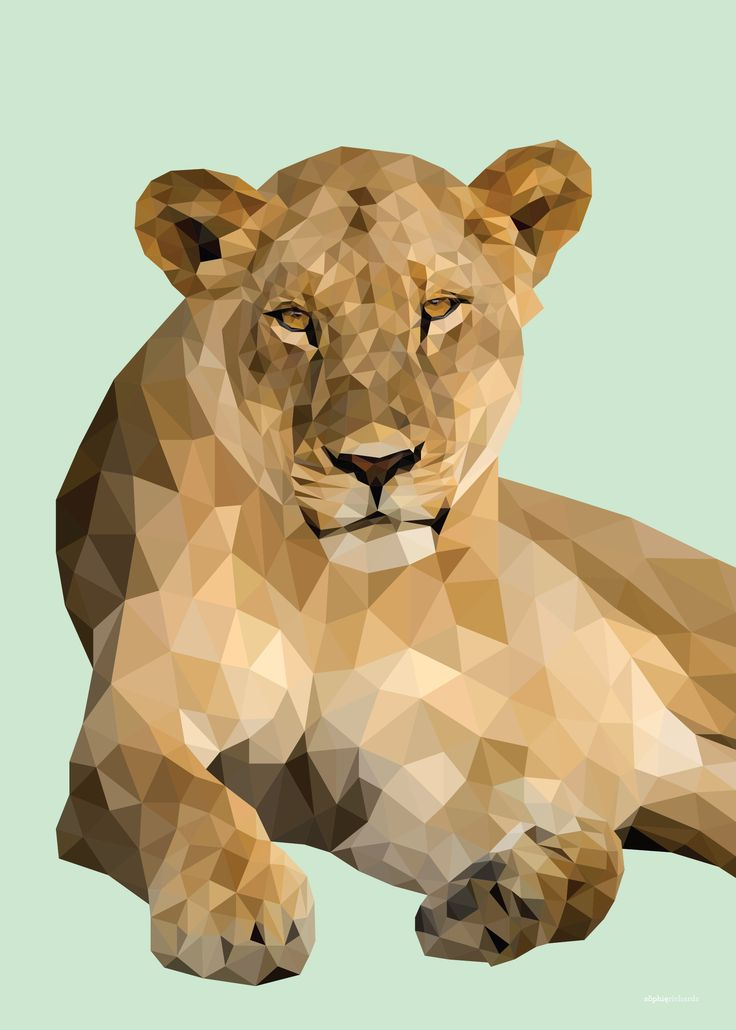Low Poly Lioness
