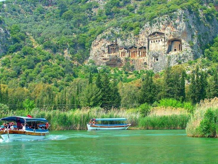 Lycian Tombs in Dalyan, Mugla, Turkey.