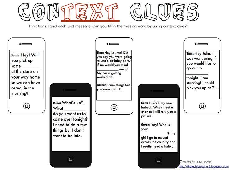 79 best Context clue activities images on Pinterest