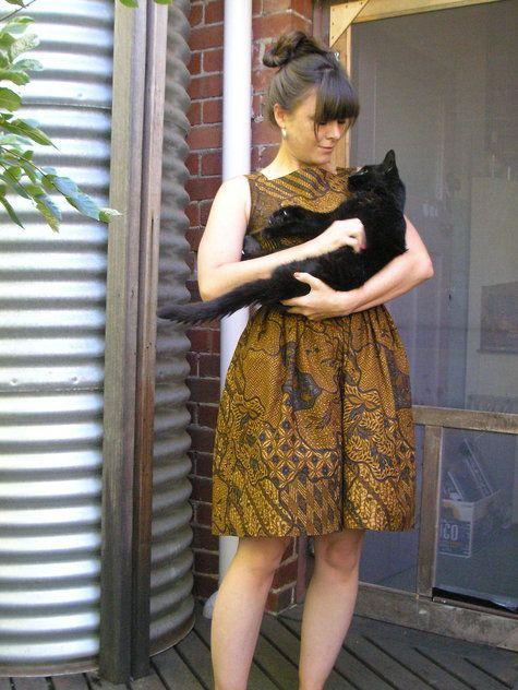 Cotton batik dress.