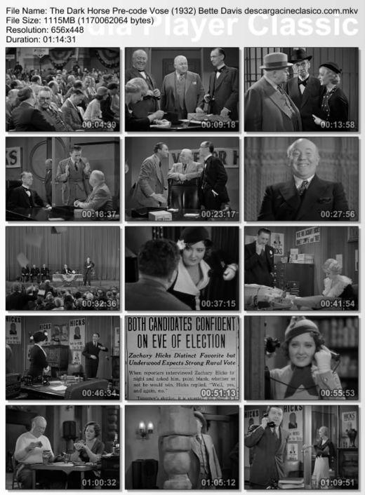 The Dark Horse - Bette Davis - Pre-code - 1932: