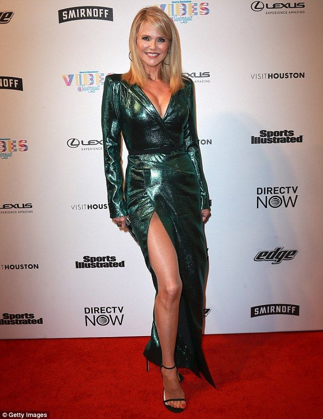 Having a ball in Houston: Christie Brinkley, Sports Illustrated Swimsuit issue legend, was a showstopper on the red carpet at the second and last night of the Vibes Sports Illustrated Swimsuit 2017 festival on Saturday