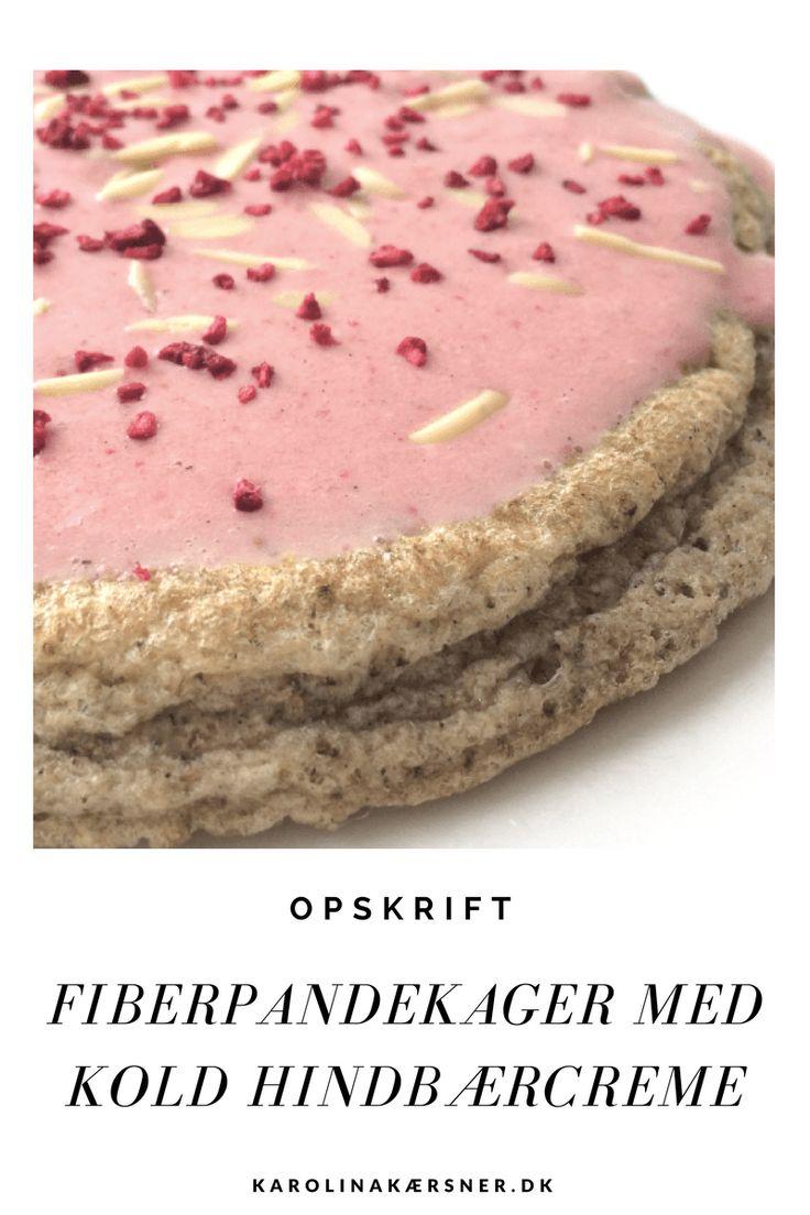Fiberpandekager med Kold Hindbærcreme (Uden sukker, mælk og gluten) ♡