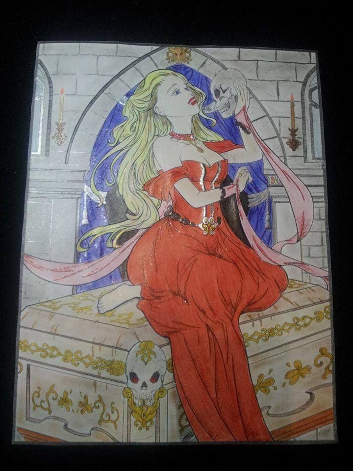 Vampires by Jade Summer | Colored by Michell Mc Lean | Print Version: https://www.amazon.com/Jade-Summer/e/B01HU2WU26 | Digital Version: https://www.etsy.com/shop/jadesummercoloring