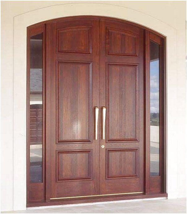 Desain pintu rumah 2 pintu kayu modern terbaru