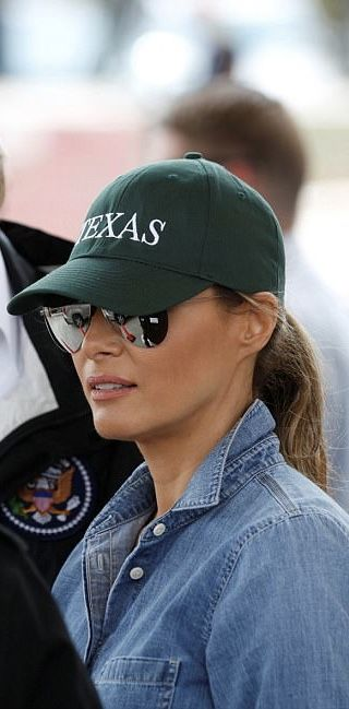 First Lady Melania Trump Hurricane Harvey