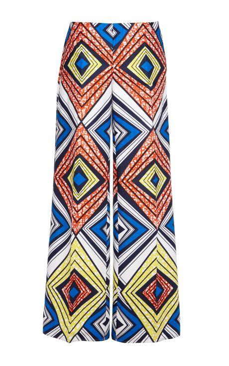 Shop Liquorice Wax Cotton Trousers by Stella Jean for Preorder on Moda Operandi