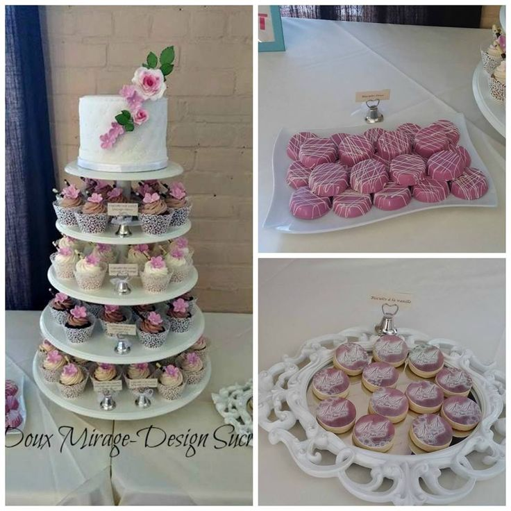 Tour à cupcakes et table de dessert,  Sweet table and cupcakes