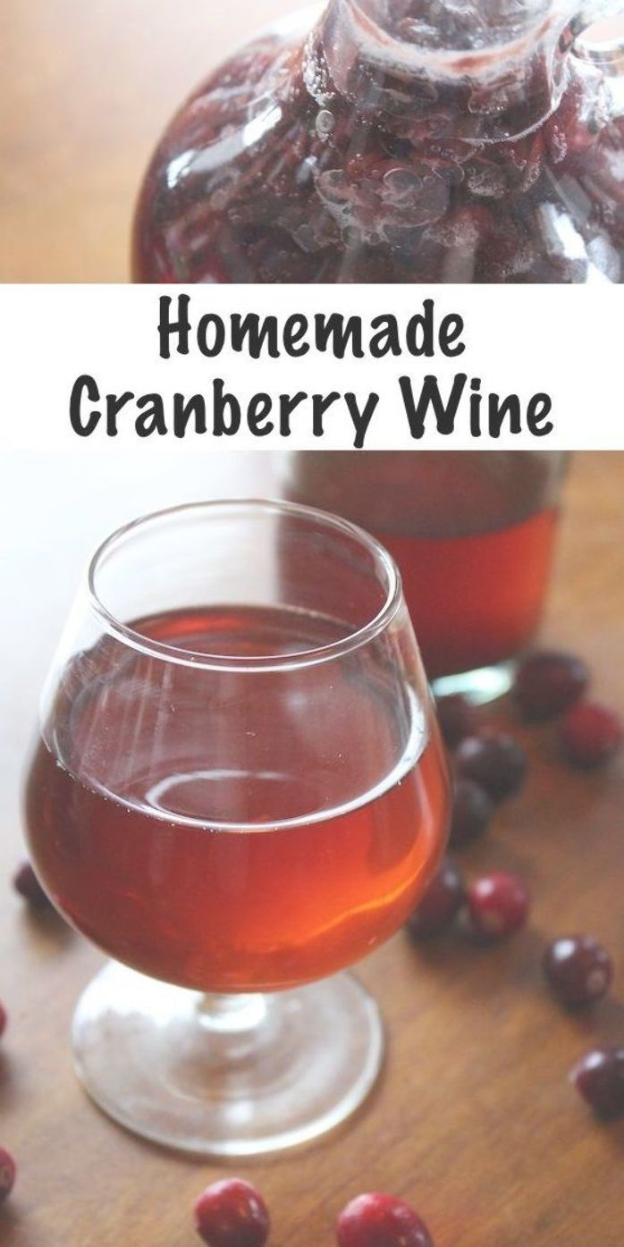 Homemade Cranberry Wine Is Easy To Make With Fresh Fruit Or Cranberry Juice Just A Few Ingredients Cranberry Wine Fruit Drinks Alcohol Alcoholic Drinks Vodka