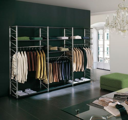 Estanter a moderna de metal para uso profesional - Estanterias para ropa ...